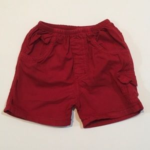 Charlie Rocket Red Cargo Shorts Size 9 Months EUC
